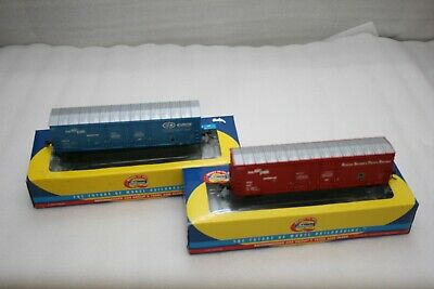 Athearn Rtr Ho Boxcar Combo - Roscoe,Snyder&Pacific / Evans Products