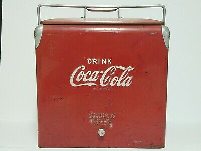 Vintage Coca Cola Cooler by Action Manufacturing W/ Bottle Opener & Drain Plug