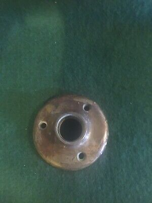 Vtg Old Heavy Cast Brass Antique Door Knob Backplate Rosette/Escutcheon