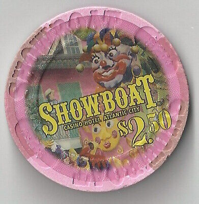 $2.50 Atlantic City 4Th Edt Showboat Casino Chip Mardi Gras Closing Summer 2014