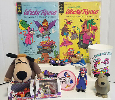 Vintage 13 piece lot of  Hanna Barbera Wacky Races Toys RARE HTF Toys