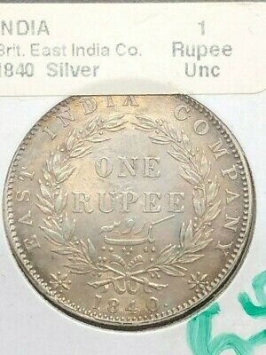 1840 - India - 1 Rupee - UNC - British East India Company