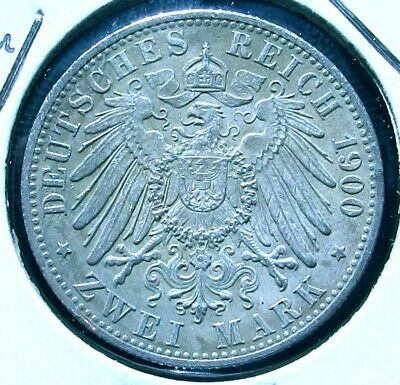 germany (Prussia) 1900-A  2 Marks in High Grade
