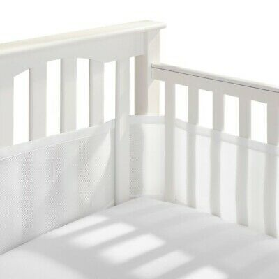 BreathableBaby Classic Breathable mesh crib liner Solid White Crib Bumper Baby