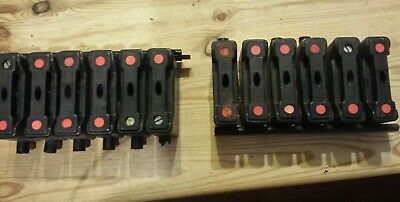 12 off GEC TYPE RS30 30AMP HRC FUSE CARRIERS.  NO FUSES. SEE PICTURES