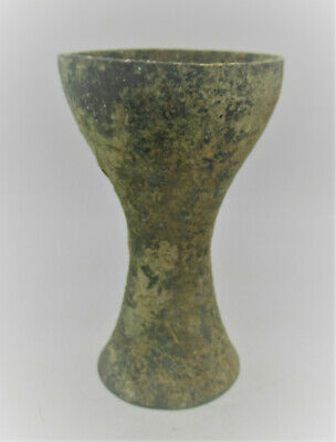 Circa 1000Bce Ancient Luristan Bronze Vessel Chalice Like Object Very Unusual