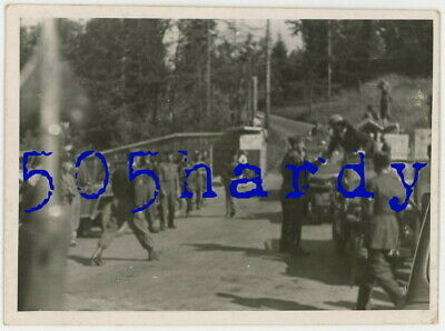 WWII US GI Photo - General Dwight D. Eisenhower's Convoy Arrives In Obersalzberg