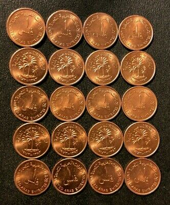 Vintage UNITED Arab Emirates Coin Lot - 20 UNCIRCULATED Islamic Coins - LOT #M24