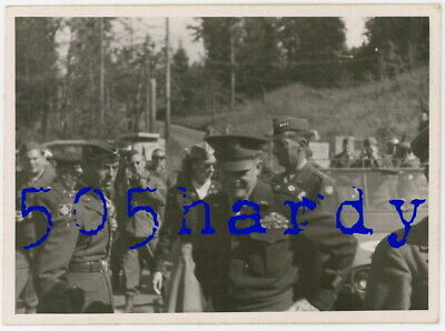 WWII US GI Photo - General Eisenhower & General Clark w/ Kay Summersby In Back ?