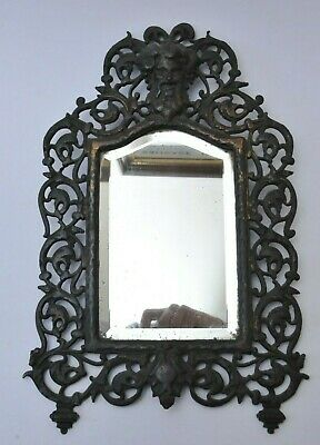 19Th Century Antique Bacchus Iron Great Quality Wall Mirror