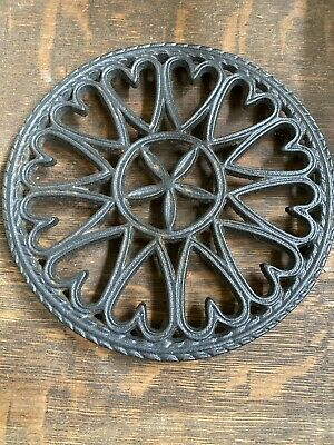 Antique-Brown Heavy Cast Iron Round Scroll Hot Plate