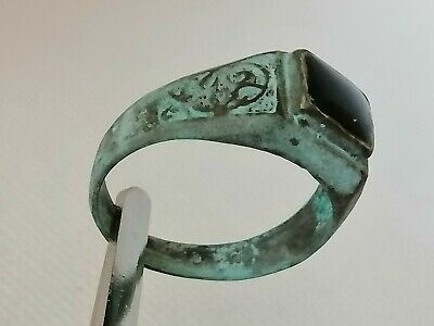 Rare Extremely Ancient Roman Ring Metal Color Silver Artifact Beautiful Stunning