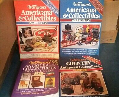 Warman's Americana & Collectibles Antiques Price Guide Asst Lot (4)