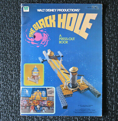 """THE BLACK HOLE""-PRESS-OUT BOOK-Vintage 1979 Walt Disney Productions"