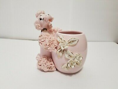 Vintage 1950s Pink Spaghetti Poodle With Pot