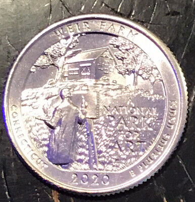 2020 S Weir Farm National Historic Site (CT) Quarter BU Direct From Mint