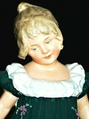 Antique German Victorian Heubach Piano Baby Girl Doll Dancer Bisque Figurine