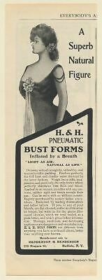 1902 H&H Pneumatic Bust Forms Inflated by Breath Henderson & Henderson Print Ad