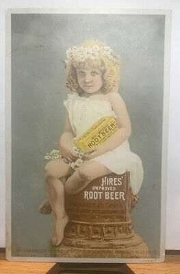 1888 Hires Improved Root Beer Advertising TRADE CARD. Beautiful! Jetmore, Kansas