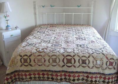 Antique 1900s PA Cutter Quilt 86x74 Hand Stitched
