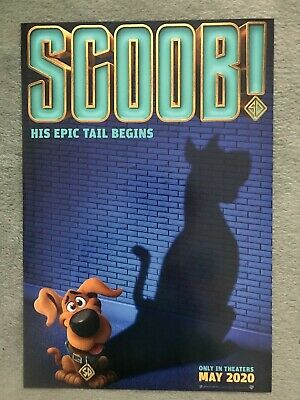 "'Scoob!' (2020) Movie Poster - 11.5"" x 17""  ***NEW***."