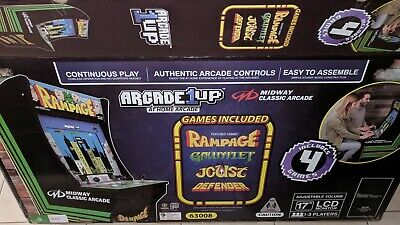 New in Box Arcade1up Rampage Arcade Machine Defender Joust Gauntlet Arcade