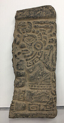 LARGE Pre-Columbian Terracotta Panel Figure Ancient Carving Wall Mayan HUMAN