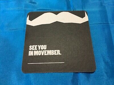 """""""Movember""""   Collectable Drink Coaster. Used, Very Good Condition"""