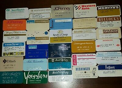 30 Vintage Retail Department Store / Clothing /  Credit Charge Cards Lot #6