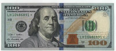 100 Dollars replacement currency bank note. Series 2009 A RARE STAR note