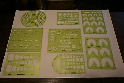 Lot of Vintage Drafting Templates