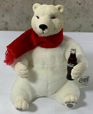 Vintage Coca Cola Porcelain / Plush Bear