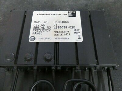 Radio Frequency Systems VHF DUPLEXER 150-160 MHZ  6 cavity Radio Mobile