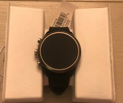 Fossil FTW4019 Q Men's Sport Smartwatch Smoke Aluminum With Black Silicone Band