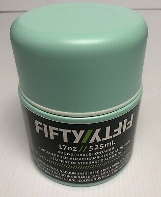 Fifty/Fifty 17oz Vacuum Insulated Food Storage Container Double Wall Sea Foam Gr