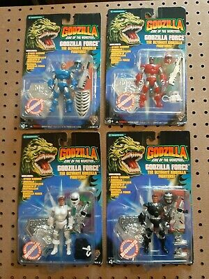 1994 Godzilla King of the Monsters Godzilla Force Action Figures Set of 4! NOS