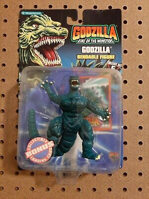 1994 RARE Godzilla King of the Monsters Godzilla Bendable Action Figure. NOS