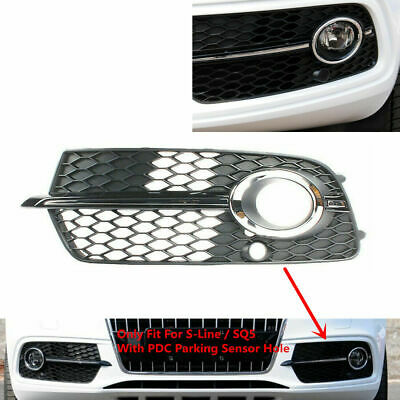 Pair Front Fog Lamp Cover LH RH Outer Grille Fit For Audi Q5 S-Line//SQ5 2014-17