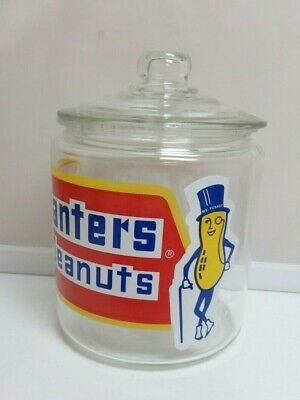 AUTHENTIC Vintage Planters Peanut Counter Display Cookie Glass Jar Mr Peanut