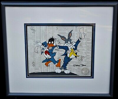 "Warner Bros. Animation Cel ~ Chuck Jones ""Stock Trades"" LE 408/750 Signed ~ COA"