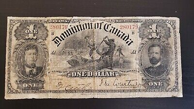 Dominion of Canada 1898 $1 DC-13a Courtney One inward (Only 175 exist)