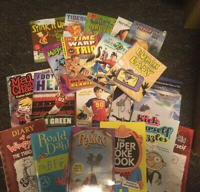 Lot of 20 Children's Chapter Books Fiction Paperback Middle Grade