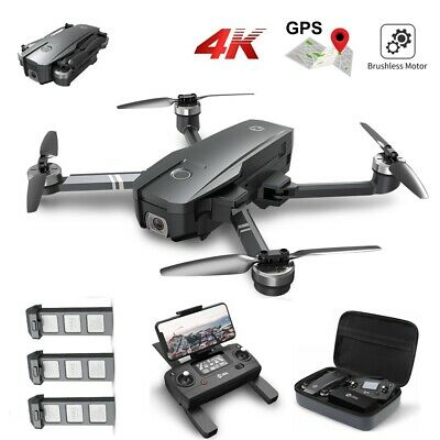 Holy Stone HS720 GPS Drone with 4K UHD Camera Brushless Quadcopter 5G wifi +CASE
