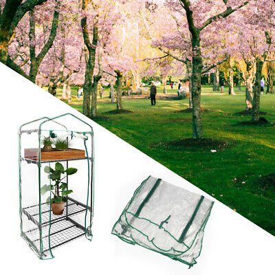 Mini Walk In Outdoor Greenhouse PVC Plastic Cover Garden 3 layer NO Shelves