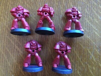 Space Crusade Full Set 5 Replacement Spare Space Marines Blood Angels Unpainted