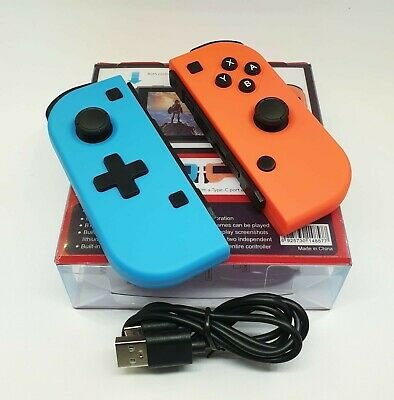 Nintendo switch controller joy gamepad wireless con pro joystick Neon red blue