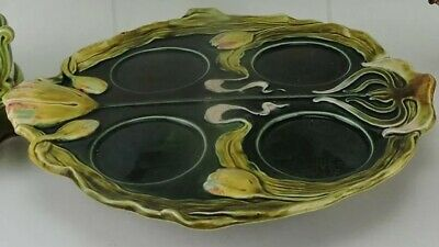 Antique European * Majolica * Continental *  Porcelain * Tray * Platter