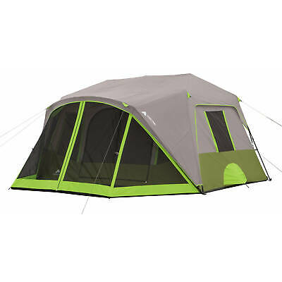 GRAYGREEN 9 PERSON 2 Room Instant Cabin Tent W Screen Room