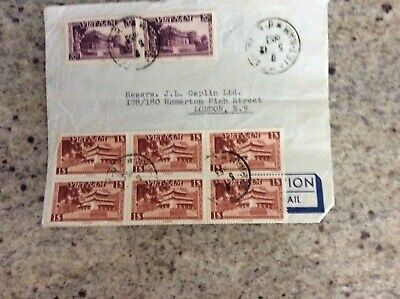 Vietnam stamps on envelope dated 1953