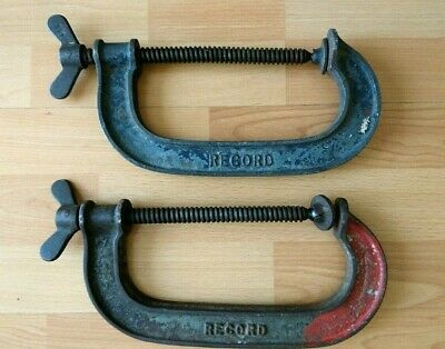Vintage RECORD 6 G Clamps x 2